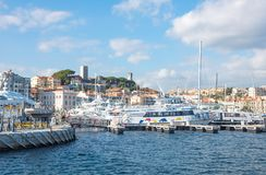 Some famous places on the Cote d`Azur royalty free stock photography