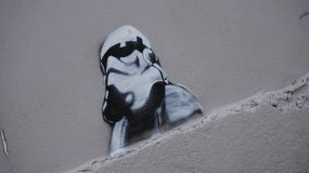 Some of the fan art which appeared in Malin Head, Ireland during the Star Wars Movie filming Stock Image