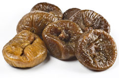 Some figs. Some dried figs on white Stock Photos