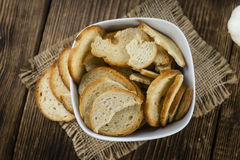 Some fresh baked bread chips. (detailed close-up shot Royalty Free Stock Photo