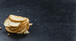 Some fresh baked bread chips. (detailed close-up shot Royalty Free Stock Images