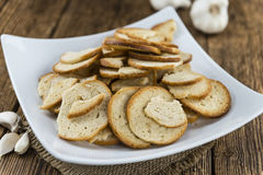 Some fresh baked bread chips. (detailed close-up shot Royalty Free Stock Image