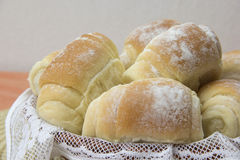 Some fresh bread on the table. Royalty Free Stock Images