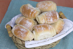 Some fresh bread on the table. Royalty Free Stock Photos