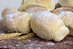 Some fresh bread on the table. Royalty Free Stock Image