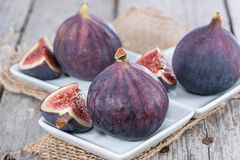 Some fresh Figs. On wooden background Stock Image