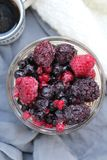 Some fresh fruits. Strawberry, blueberry, raspberry Stock Photography