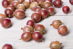 Some fresh gooseberries. On a table Stock Image