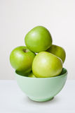Some fresh green apples. Royalty Free Stock Photo