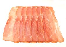 Some fresh ham. On a white background Stock Photography