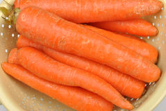 Some fresh and healthy organic carrot. Clean some fresh and healthy organic carrot royalty free stock image