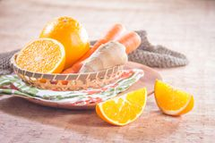 Healthy fruit and fresh food. Some fresh and healthy vegetables and fruit cuisine for cooking Royalty Free Stock Image