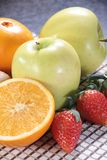 Healthy fruit and fresh food. Some fresh and healthy vegetables and fruit cuisine for cooking Stock Image