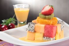 Healthy fruit and fresh food. Some fresh and healthy vegetables and fruit cuisine for cooking Stock Photo