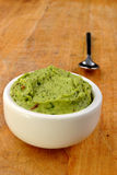 Some fresh herb butter and a spoon Royalty Free Stock Photo