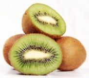 Some fresh kiwi. On white background Stock Photos