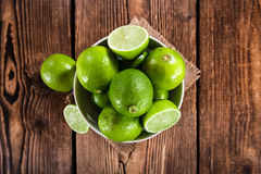 Some fresh Limes Stock Image
