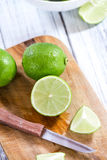 Some fresh Limes Royalty Free Stock Photo