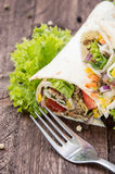 Some fresh made Wraps Stock Photo