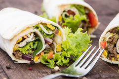 Some fresh made Wraps Stock Photos