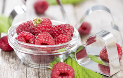 Some fresh Raspberries Royalty Free Stock Images