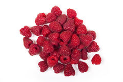 Some fresh raspberry. Fresh raspberry is isolated on a white background Royalty Free Stock Photo