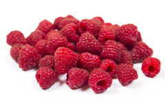 Some fresh raspberry. Fresh raspberry is isolated on a white background Royalty Free Stock Photos