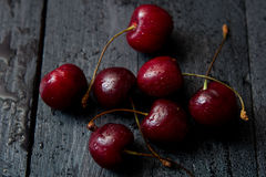 Some fresh ripe red cherries Stock Photography