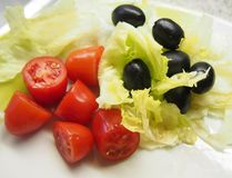 Some fresh salad. On a plate royalty free stock images