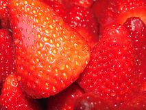 Some fresh strawberries. A lot of fresh red strawberries royalty free stock images