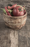 Some fresh vegetables in a basket Royalty Free Stock Photo