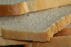 Some fresh white bread thin slices. Together royalty free stock photos
