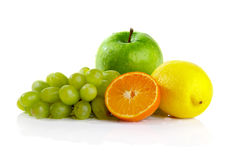 Some fruits. Isolated over white background Stock Images