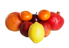 Some fruits. Isolated on a white background Royalty Free Stock Image