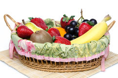 Some fruits in a basket Royalty Free Stock Photography