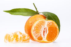 Some fruits of clementine isolated on white background.  Royalty Free Stock Photography