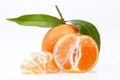 Some fruits of clementine on white background Royalty Free Stock Photos