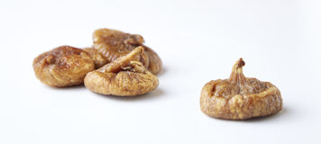 Some fruits of dried fig. Dried figs isolated on a white background royalty free stock photography