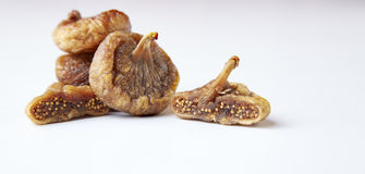 Some fruits of dried fig. Dried figs isolated on a white background royalty free stock photos