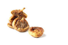 Some fruits of dried fig. Dried figs isolated on a white background stock images