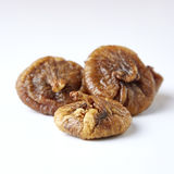 Some fruits of dried fig. Dried figs isolated on a white background royalty free stock photo