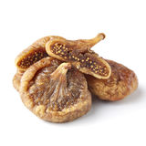 Some fruits of dried fig. Dried figs isolated on a white background stock photos