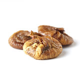 Some fruits of dried fig. Dried figs isolated on a white background stock photography