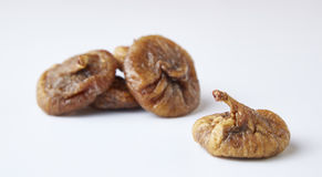 Some fruits of dried fig. Dried figs isolated on a white background royalty free stock image