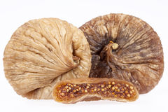 Some fruits of dried fig isolated on white background Royalty Free Stock Image