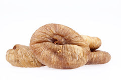 Some fruits of dried fig isolated on white background.  royalty free stock photo