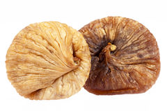 Some fruits of dried fig isolated on white background.  stock photos