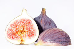 Some fruits of fresh fig isolated on white background.  Royalty Free Stock Photos