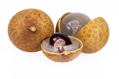 Some fruits of longan isolated on white background.  Royalty Free Stock Photography