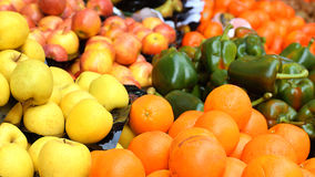 Some fruits in a street market in a mediterranean country. European destination Royalty Free Stock Photo